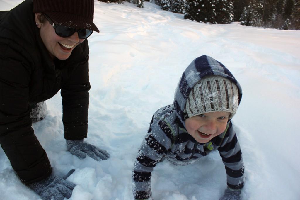 Ezra in snow 104