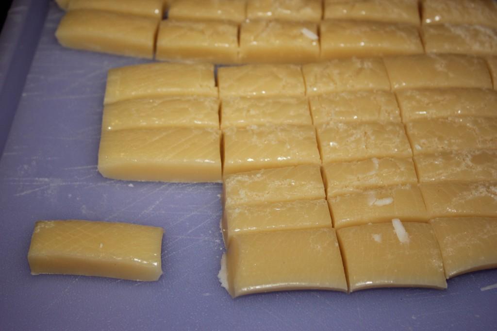 cut-up caramels