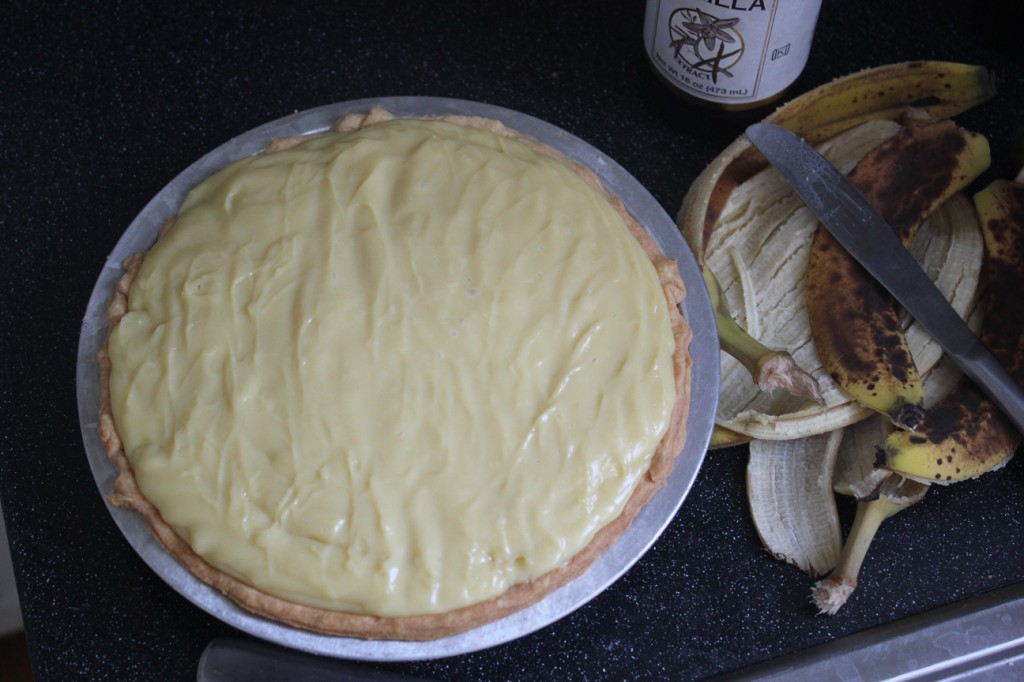 finished banana pie