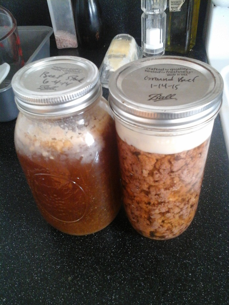 canned beef stock and canned ground beef